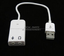 External USB 2.0 3D Virtual 7.1 Channel Audio Sound Card Adapter PC Laptop A93
