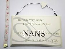 Lucky Nans Wall Plaque Sign Birthday Gift Ideas for her & Grandparents F0819C