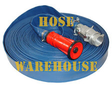 "Fire Fighting Hose, PVC Lay Flat, Camlocks, 1"" x 30 Mtr FREE FREIGHT"