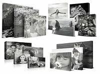Personalised Canvas Printing Black & White - Your Photo Printed & Box Framed