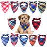 Bandana Plaid Triangular Bibs Neckerchief Dog Collar Neck Scarf saliva towel