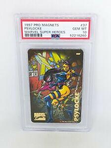 1997 Pro Magnets Marvel Super Heroes #37 Psylocke PSA 10 POP 1