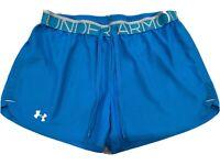 Under Armour Womens Sz Medium Semi-Fitted Drawstring Athletic Shorts heat gear.