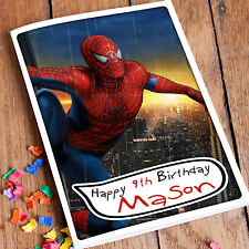SPIDER MAN Personalised Birthday Card | Marvel Hero Son Brother Cousin
