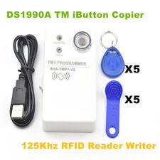 DS1990A TM iButton RW1990 Copier &125KHz RFID EM4305 T5577 Reader Writer+10 Tags
