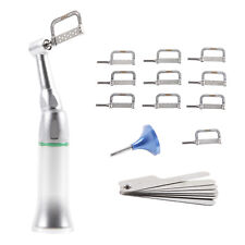 Dental Contrangolo Handpiece 4:1 Reduction Interproximal & 10Pcs Strips Dentist