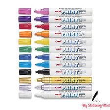 Uni Paint Marker COLOURS PX 20  Oil Based Opaque Pen Stone Metal Glass Wood