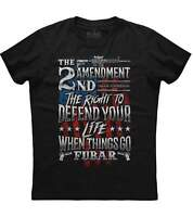 The 2nd Amendment The Right To Defend Your Life Men's Trending Black T-shirt