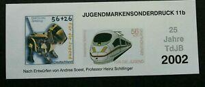 [SJ] Germany Robotic 2002 Dog Train Railway Robot (ms) MNH *vignette *imperf
