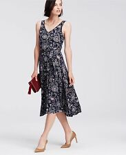 Ann Taylor Paisley Print Belted Jersey Midi Dress, size S, NWT