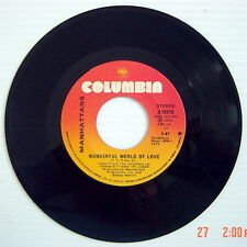 1976'S 45 R.P.M. RECORD, MANHATTANS, WONDERFUL WORLD OF LOVE + KISS AND SAY...