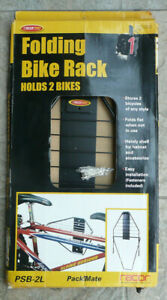 Black 2 Bike Hanger Wall Mounted Indoor and Garage Rack