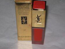 YSL # 17 LIPSTICK Tatouage Couture Liquid Matte Lip Stain $36.00 NEW