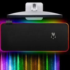 USB RGB Glowing Oversized Mouse Pad Colorful Luminous Lighting Game Keyboard Mat