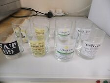 ADVERTISING  WHISKY GLASSES SET OF EIGHT