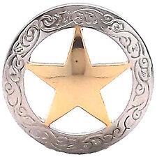"Texas Star Screwback Concho 1-1/2"" 7462-01"