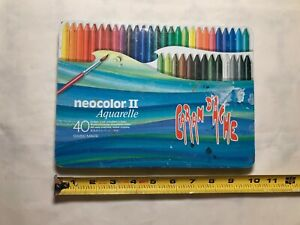 Vintage Caran d'ache Neocolor II Set of 39 Crayons