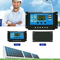 12V/24V LCD Auto Work Solar Charge Controller PWM Cell Panel Charger Regulator
