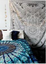 Indian Fatima Hand Hamsa Tapestry Hippie Wall Hanging Decor Bedding Bedspread