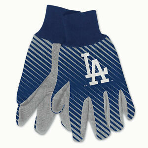 NEW Licensed Baseball Blue & Grey Los Angeles Dodgers Gripped Utility Gloves