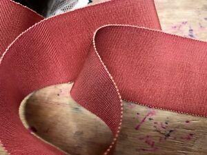 "Vintage Petersham Cotton Trim Millinery 2"" Viscose Ribbon 1yd Made in France"