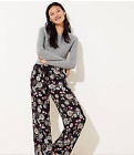 Loft Floral Fluid Drawstring Womens Pants w/ Pockets Small, Large, Xlarge 79.50