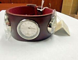 New Calvin Klein Night K4623138 Red Band Quartz Women's Watch