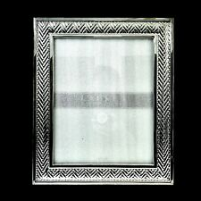 Ralph Lauren Equestrian Braid Silver Plated 8 x 10 Picture Photo Frame In Box