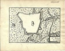 Antique map, St Jean d'Angely