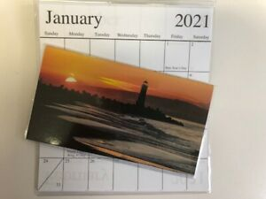 1-2021-2022 LIGHTHOUSE ORANGE SKIES  2 Year  Pocket Calendar planner