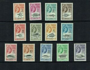 Tristan da Cunha: 1964 Decimal Currency definitive set. Mint lightly hinged