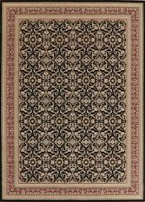 Transitional All-Over BLACK Area Rug Floral Modern Carpet 8x11 Living Room