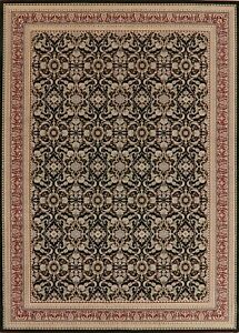 Transitional All-Over BLACK Area Rug Floral Modern Carpet 8x11 Living Room