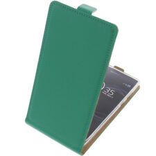 Custodia Per sony Xperia L1 Cellulare Modello Flip Protettiva Case Verde