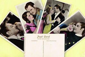PICTUREGOER Film Partners PC 1930s Colour ☆ FILM STAR ☆ Postcards #PC1 to #PC80