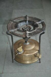 Old Brass & Iron Robish No.1 Original Handcrafted Kerosene Stove, Sweden