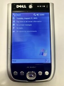 DELL AXIM X50v PDA  Includes  Case  Stylus  And Battery