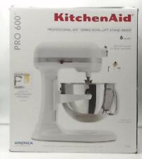 NEW OPEN BOX KitchenAid Pro 600 6-Qt Bowl-Lift Stand Mixer, White $730 - READ