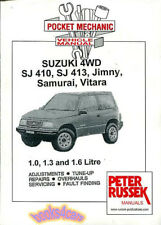SUZUKI SAMURAI VITARA JIMNY SHOP MANUAL SERVICE REPAIR BOOK SJ410 SJ413 RUSSEK