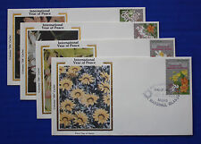 "Marshall Islands (128-131) 1986 Int'l Year of Peace Colorano ""Silk"" FDC set"