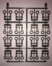 Authentic LEGO Prototype Sprue Chrome Antique Brass Keys (HTF / RARE) (32 Keys)