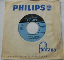 *JOHNNY HALLYDAY Pas cette chanson / Douce fille de... CANADA 1963 1st Press 45