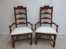 Pair Pennsylvania House Cherry Ladderback Dining Room Desk Arm Chairs Set B