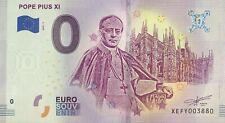 BILLET 0 EURO POPE PIUS XI  ALLEMAGNE  2019-1