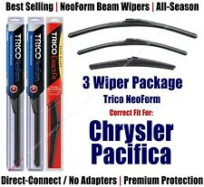 3-Pack Wipers Front & Rear NeoForm - fit 2017+ Chrysler Pacifica - 16260/200/14A