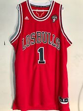 Adidas Swingman NBA Jersey Chicago Bulls Derrick Rose Red Latin Nights sz 2X