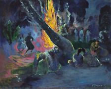 """Upa Upa"" (The Fire Dance) by Paul Gauguin. Canvas Life Art.  11x14 Print"