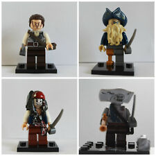 Pirates Of The Carribean Jack sparrow Davy Jones 4 X Mini Figures Use With lego