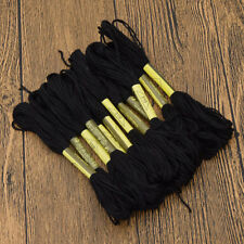 10 pcs Set Black Embroidery Thread Hand Cross Stitch Floss Sew Skiens DIY Craft