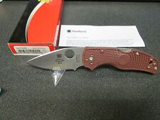 Spyderco Native 5 LW S90V Maroon FRN Forum Knife 2015 DISCONTINUED